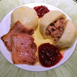 Swedish Kroppkakor (potato dumplings with pork)