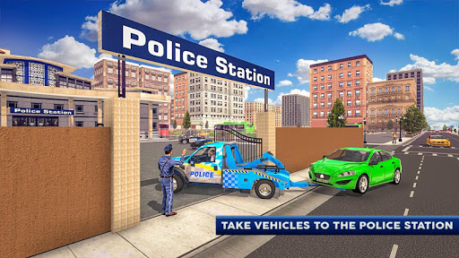 Police Tow Truck Driving Car Transporter Apk 2