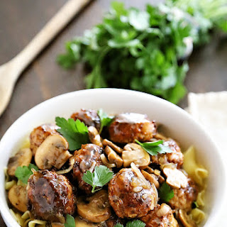 Chicken Marsala Meatballs