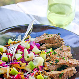 Apple, Leek, and Cabbage Salad with Beef Tips