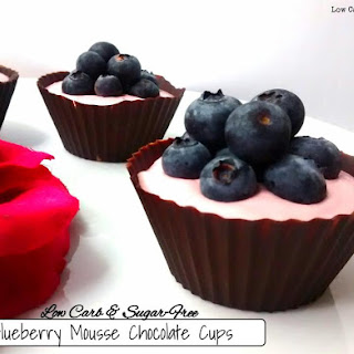 Blueberry Mousse Chocolate Cups