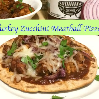 BBQ Turkey Zucchini Meatball Pizza
