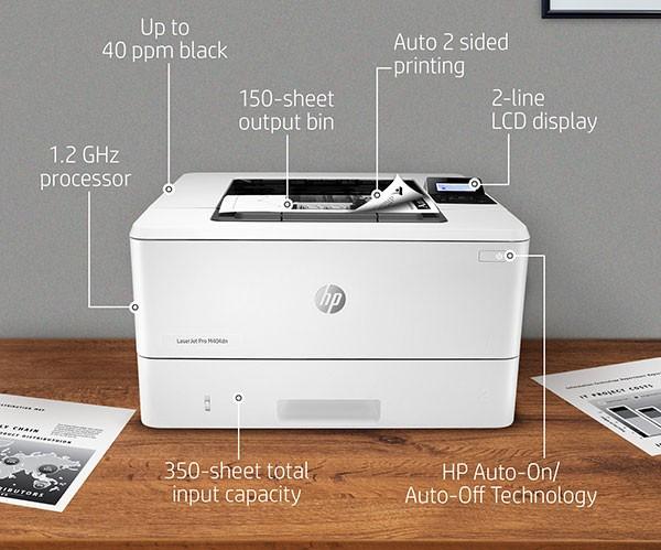 Máy in HP 404DN cho chất lượng bản in tuyệt vời