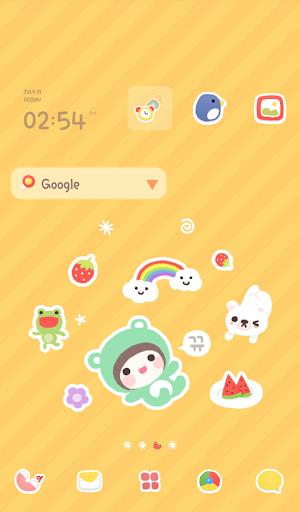 bebe roll Dodol launcher theme|玩個人化App免費|玩APPs