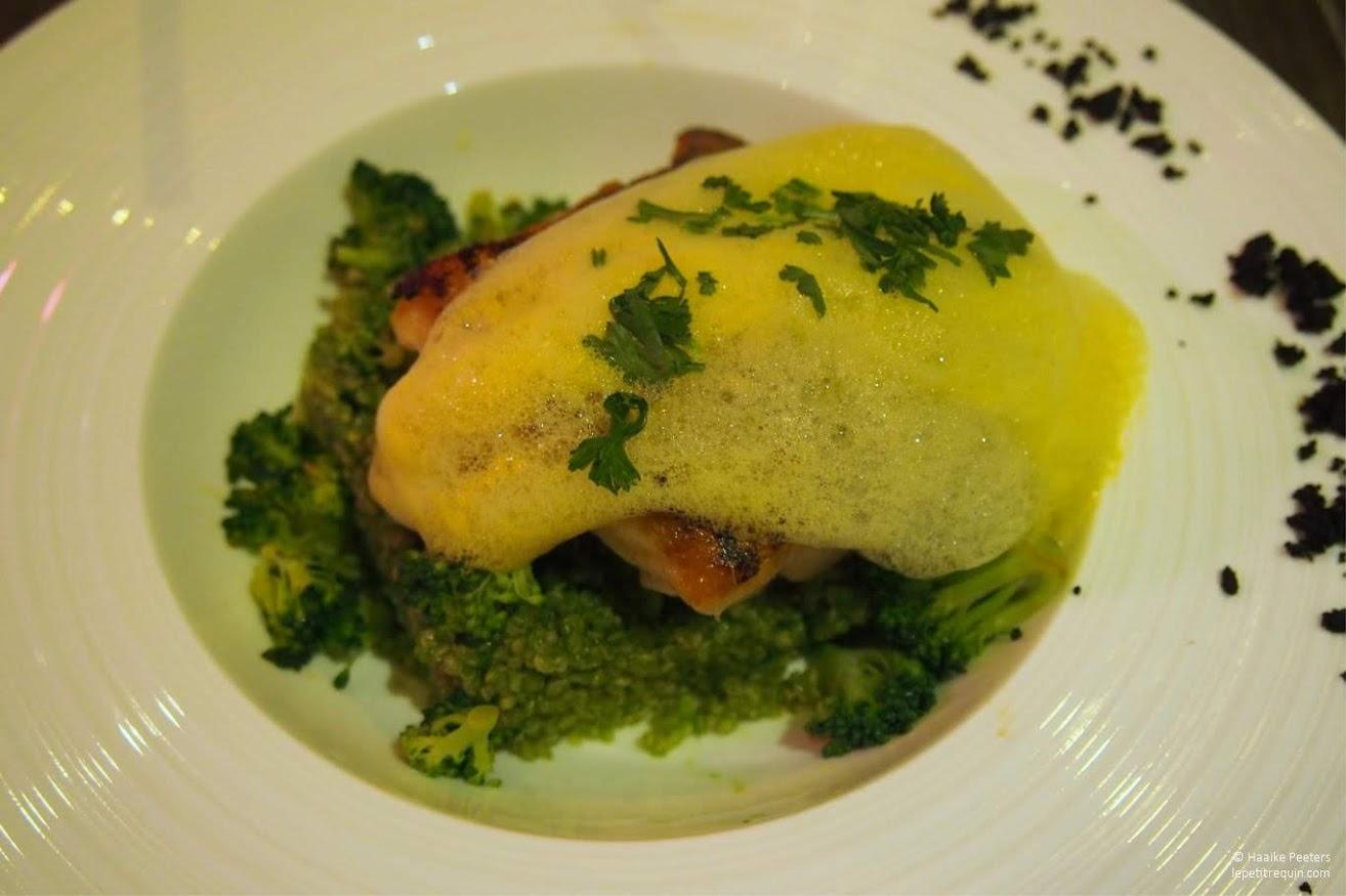 Heek met groene quinoa en yuzu (Le petit requin)