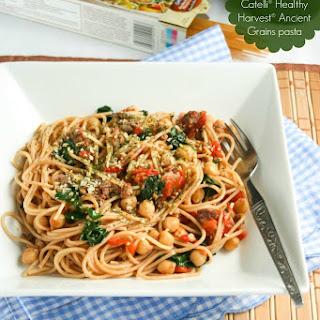 Spaghetti with Turkey Sausage & Kale