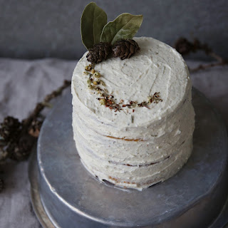 Marzipan Carrot Cake With Chamomile Cream Cheese Frosting