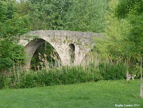 Photo: Pont médiéval de la Magdalena sur l'Arga
