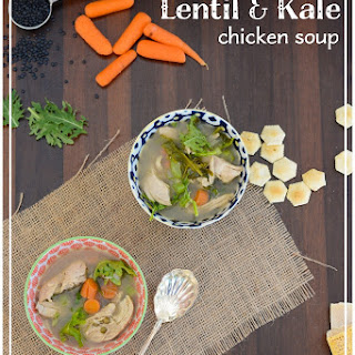 Lentil Kale Chicken Soup