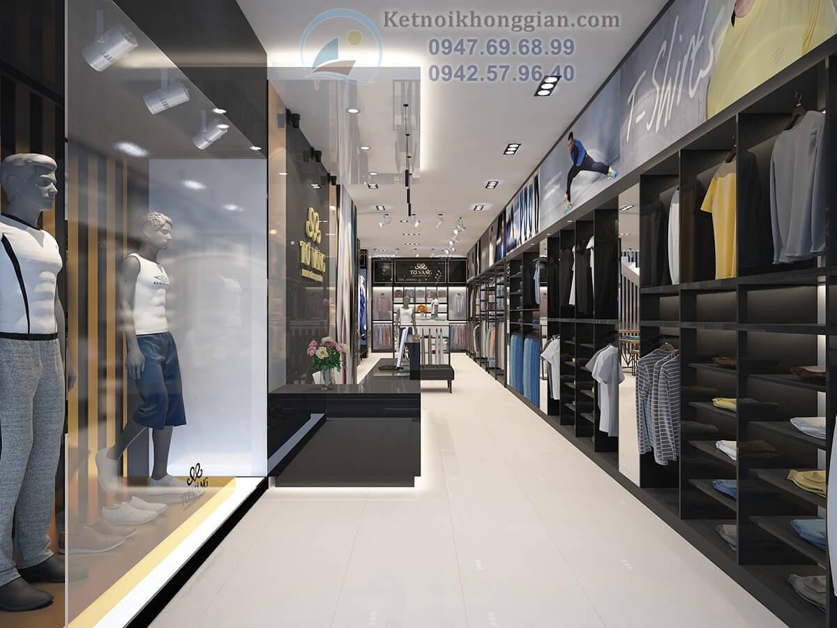 thiết kế cửa hàng thời trang nam đẳng cấp tại nam định