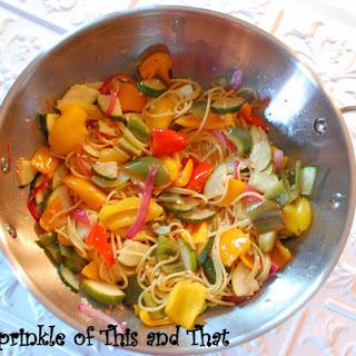 Lemon Zucchini and Pepper Stir Fry
