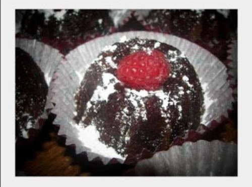 "Mini Chocolate Raspberry Rum Cakes ""These are always a big hit with..."