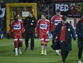 Hervé Kage réagit aux chants des supporters de Charleroi