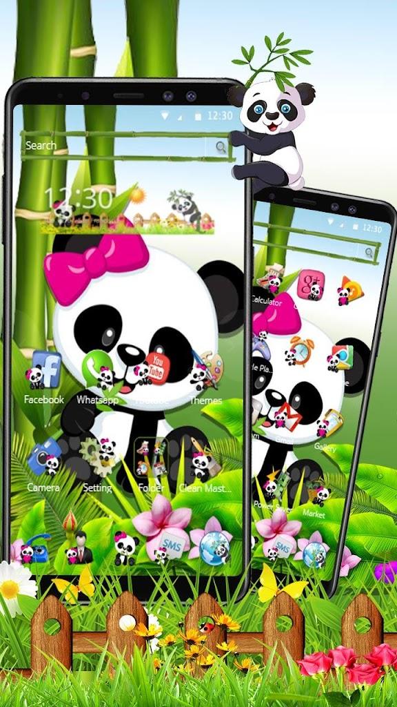 Lucu Makan Bambu Bayi Panda Tema Untuk Android Apk Unduh