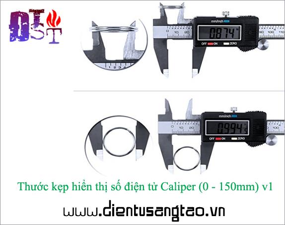 Thước kẹp điện tử 0-150mm - Thân kim loại chống gỉ