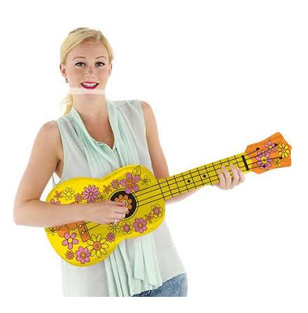 Uppblåsbar, ukulele 80cm