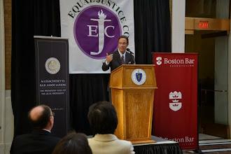 Photo: MBA President Doug Sheff (Sheff Law) also addressed the crowd.