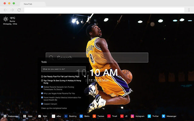 Los Angeles Lakers New Tab HD NBA Themes