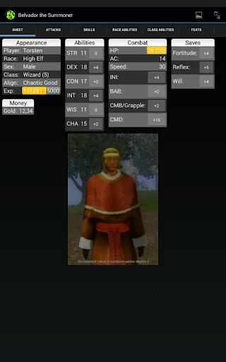 d20 Character Sheet screenshot 9