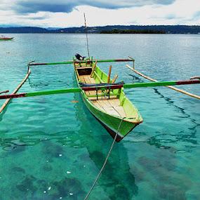 Papua Long Boat by Bastian M - Transportation Boats