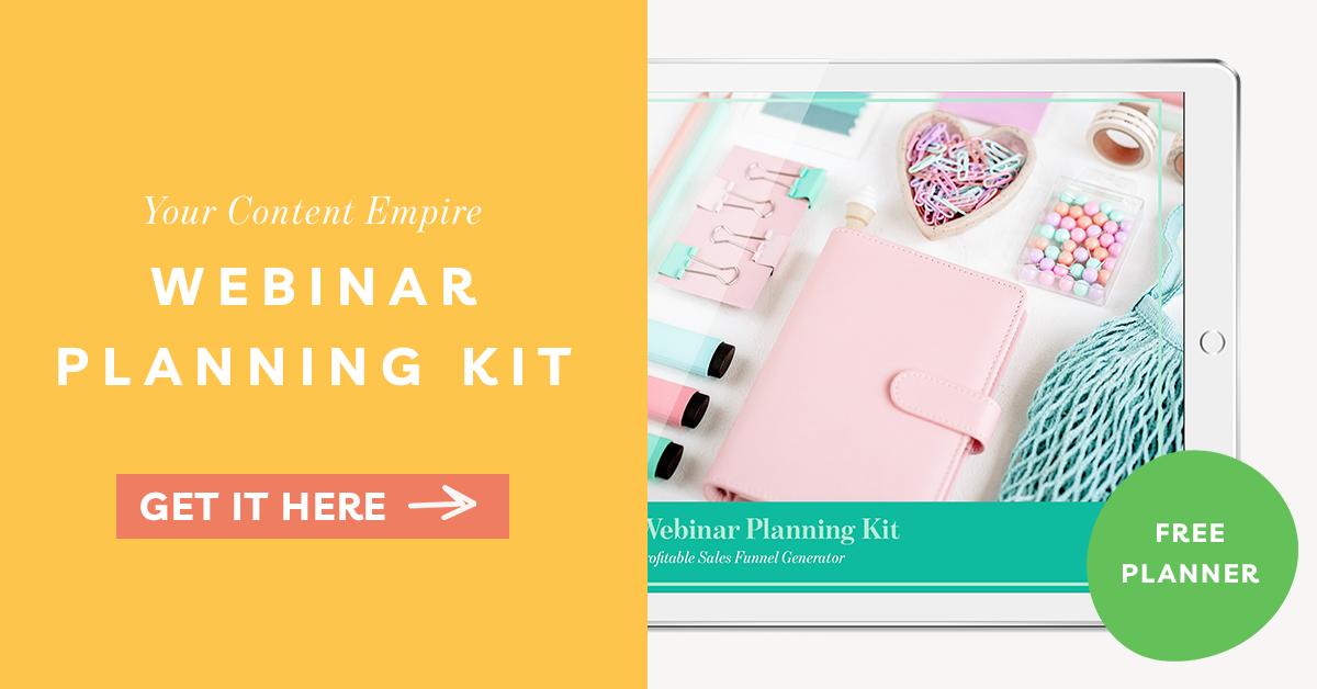 Freebie | Webinar Planning Kit