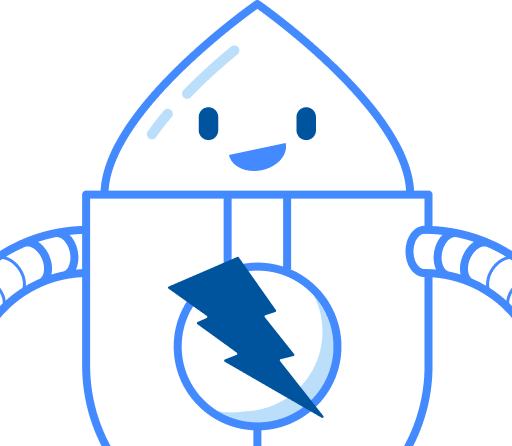 ZAP Bot, the mascot of the open source project ZAP (https://zaproxy.org)