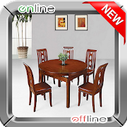 500+ Wooden Chair and Table Set Design icon
