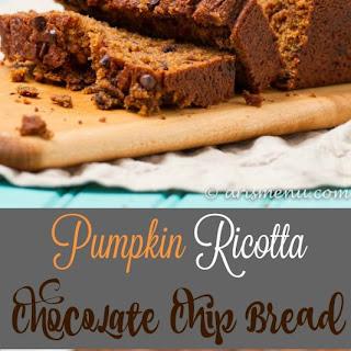 Pumpkin Ricotta Chocolate Chip Bread