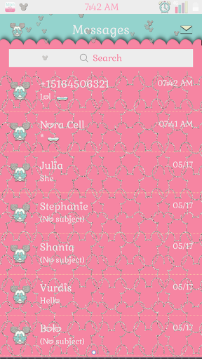 Cute Mickey Go Sms