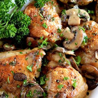 Creamy Mushroom Sauce Baked Chicken.
