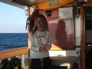 Photo: Before we get in the water, Josie, our French Canadian divemaster/cruise director, gives a briefing.
