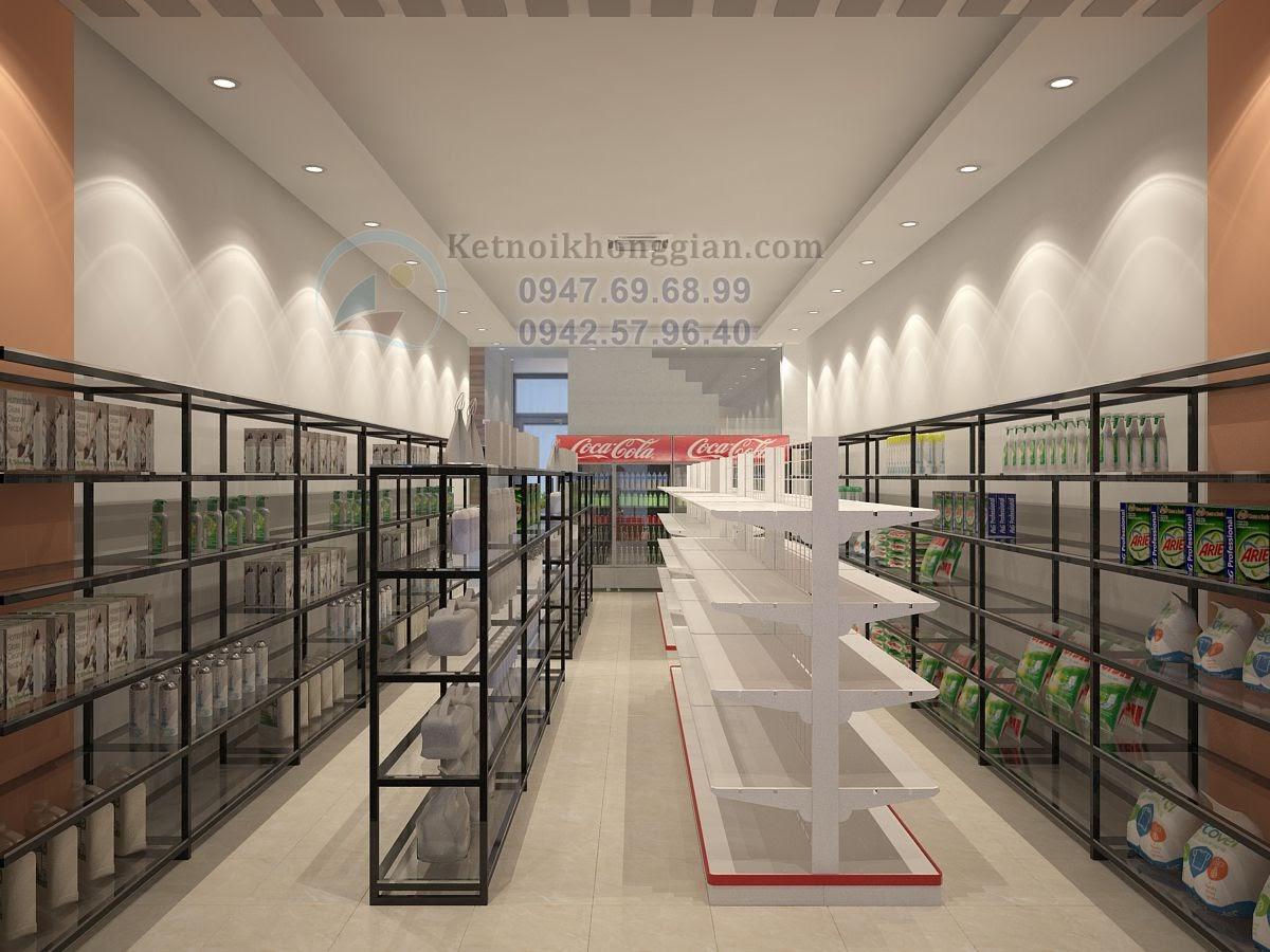 thiết kế cửa hàng tạp hóa phong cách trẻ