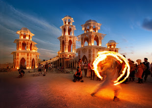 Photo: Firedancing at the Temple  For the full Burning Man set, see https://picasaweb.google.com/105237212888595777019/BurningManTreyRatcliff  -- from Trey Ratcliff at http://www.StuckInCustoms.com