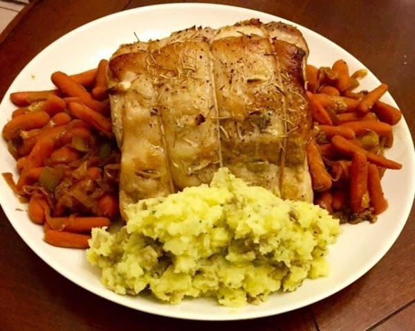 Remove roast from oven. Place roast, or chops on a platter. Strain vegetables from...