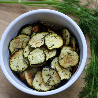 Dill Pickle Zucchini Chips.