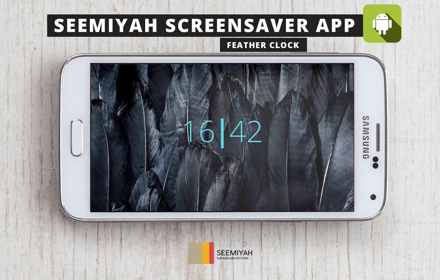 Feather clock- screenshot
