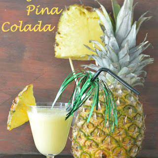 Virgin Pina Colada Mocktail.
