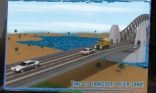 Transport Truck 3D: River Sand