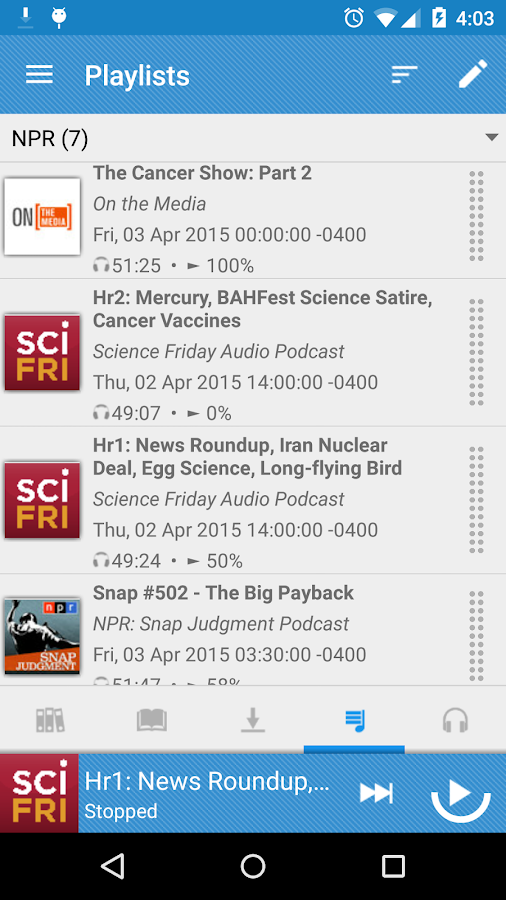 Podcast Republic - screenshot