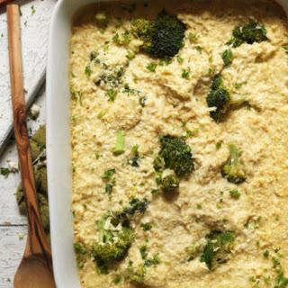 Cheesy Cauliflower Rice & Broccoli Bake