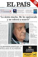 Photo: El Rey pide disculpas por el viaje a Botsuana y los pensionistas españoles pagarán por vez primera parte de sus medicinas, en nuestra portada de este jueves 19 de abril http://srv00.epimg.net/pdf/elpais/1aPagina/2012/04/ep-20120419.pdf