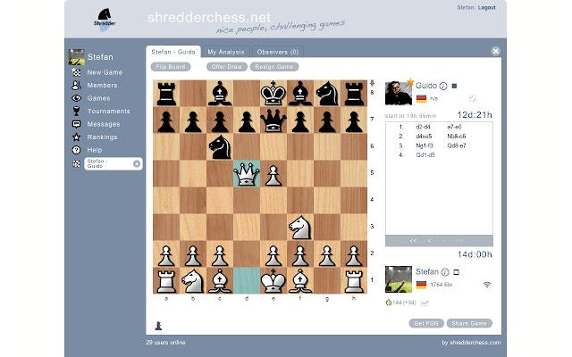 Chess Online @ shredderchess net
