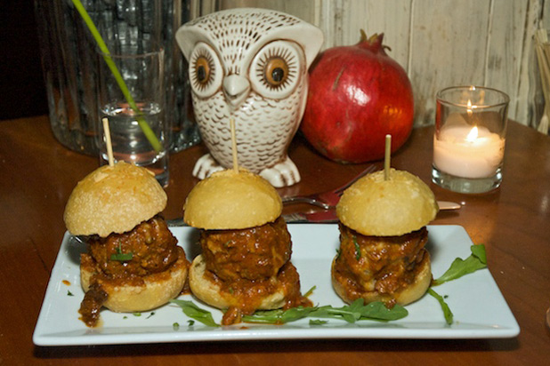 Photo: The Little Owl's Gravy Meatball Sliders: http://www.thedailymeal.com/11-sexy-slider-recipes-slideshow#1