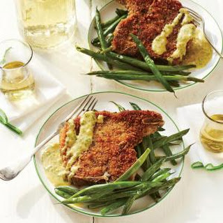 Homemade Shake-and-Bake Pork Chops with Mustard Sauce