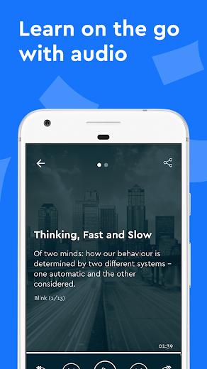 Screenshot 3 for Blinkist's Android app'