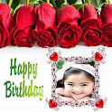 Happy birthday greeting card icon
