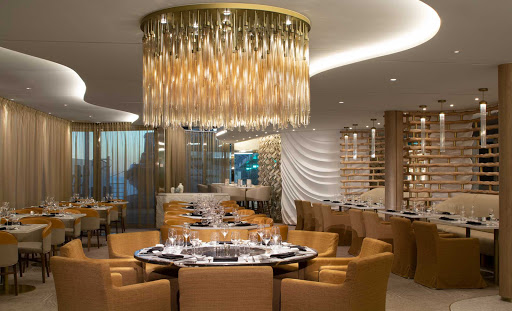 Raw on Five is the specialty restaurant on Deck 5 offering seafood favorites in a refined setting on your Celebrity Edge class sailing.