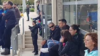 René este domingo en el Anexo viendo al equipo femenino del Almería.