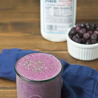 Blueberry Chia Protein Shake.