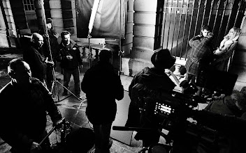 Photo: On set at the Burberry A/W12 campaign shoot